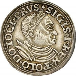 Zygmunt I Stary 1506-1548, Trojak 1532, Toruń.