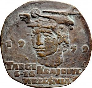 Medal pamiątkowy z 1959 roku, odlany z okazji Targów Krajowych we Wrześni.