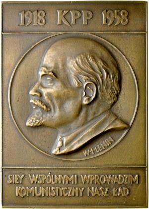 Medal prostokątny 1958, Plakieta, W. I. Lenin.