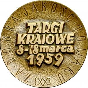 Medal autorstwa Jastrzębowskiego z 1959 roku wybity z okazji Targów Krajowych w Poznaniu.