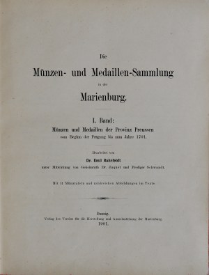 Bahrfeldt E., Die Münzen und Medaillen-Sammlung in der Marienburg, Band I-VII, Danzig 1901, 1906, 1910, 1916.