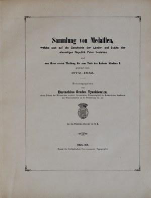 Tyszkiewicz E., Sammlung polnischer Medaillen von 1772 bis 1855, Riga 1871.