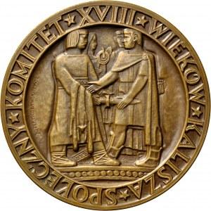 Medal autorstwa Józefa Gosławskiego z 1960 roku wybity z okazji XVIII w. miasta Kalisza.