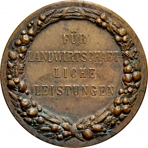 Medal nagrodowy ok. 1900, za osiągnięcia w rolnictwie w Prowincji Pomorskiej.