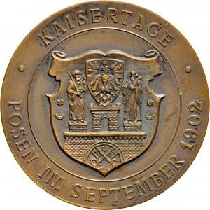 Medal z 1902 roku wybity nakładem Poznańskiego Towarzystwa Numizmatycznego z okazji dni cesarskich w Poznaniu.