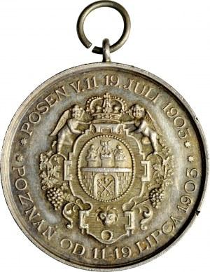 Medalik z 1903 roku, wybity z okazji 650-lecia powstania bractwa strzeleckiego w Poznaniu.