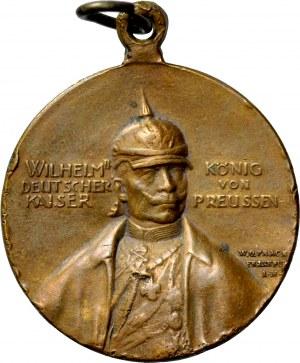 Medalik wybity w 1910 roku na pamiątkę otwarcia Zamku Wilhelma w Poznaniu.