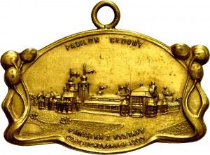 Medalik jednostronny nieznanego autora z 1909 wybity z okazji Wystawy Częstochowskiej.