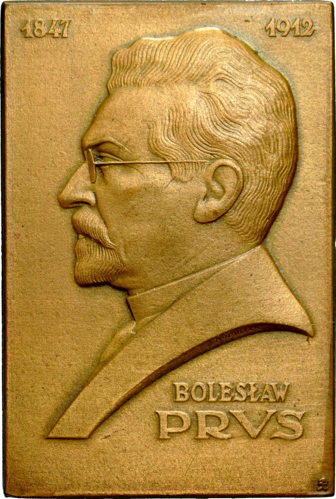 Plakieta autorstwa Aumillera z 1926 roku, poświęcona Bolesławowi Prusowi.