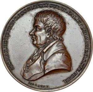 Medal 1817 autorstwa J. Lang'a, upamiętniający przekazanie na dobra publiczne biblioteki Ossolińskich we Lwowie.