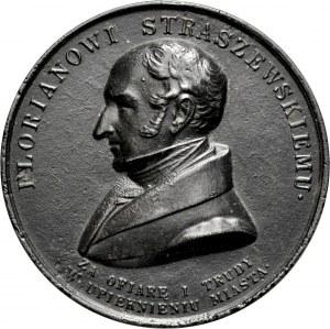 Medal 1838, autorstwa I D. Boehma, poświęcony Florianowi Straszewskiemu, burmistrzowi miasta Krakowa.