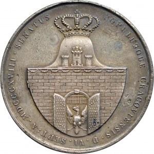 Medal autorstwa Ksawerego Stuckhart'a z 1818 roku, poświęcony trzem komisarzom tworzącym po Kongresie Wiedeńskiem Wolne Miasto Kraków.