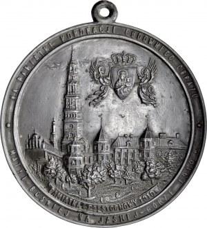 Medalion z 1910 roku odlany na pamiątkę koronacji cudownego obrazu Matki Boskiej na Jasnej Górze.