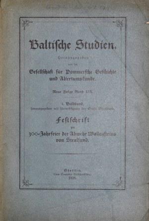Grotefend D., Baltische Studien, Stettin 1928.