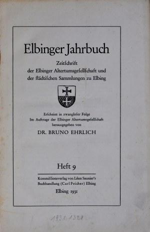 Ehrlich, Rocznik Elbląski, Zeszyt 9, Elbląg 1931.
