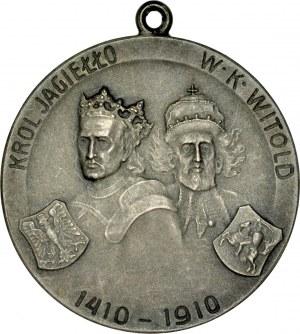 Medal autorstwa K. Czaplickiego z 1910 roku, wybity na pamiątkę zwycięstwa pod Grunwaldem.