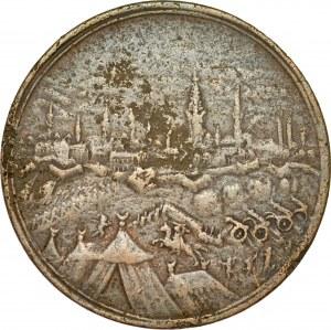 Medal z 1683 roku wybity na pamiątkę Odsieczy Wiedeńskiej.