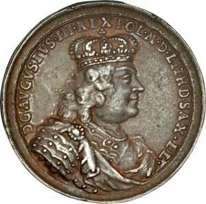 Medal autorstwa Wernera, wybity w 1736 roku dla uczczenia sejmu pacyfikacyjnego kończącego wojnę domową która wybuchła po elekcji Augusta III.