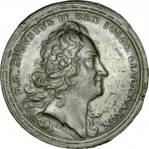 Medal autorstwa Groskurta na ustanowienie Orderu Orła Białego bity prawdopodobnie w 1713 r.
