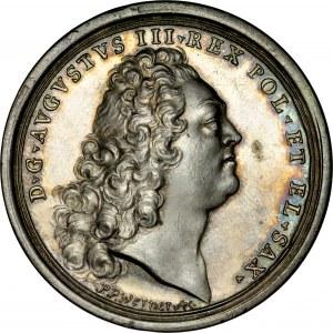 Medal z 1733 roku autorstwa P.P. Wernera wybity z okazji koronacji Augusta III na króla Rzeczpospolitej.