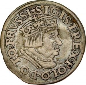 Zygmunt I Stary 1506-1548, Trojak 1536, Gdańsk.