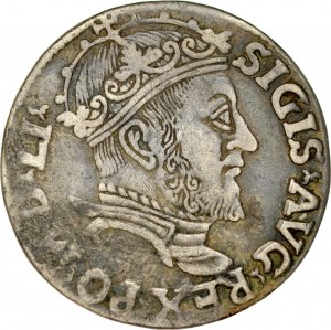 Zygmunt II August 1545-1572, Trojak 1547, Wilno.
