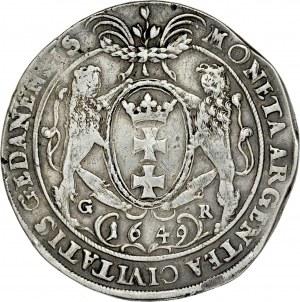 Jan II Kazimierz 1649-1668, Talar 1649, Gdańsk.
