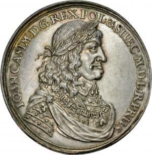 Jan II Kazimierz 1649-1668, Medal z 1660 roku, autorstwa Jana Hohena Młodszego, wybity w stylu gdańskich donatyw z okazji zawarcia Pokoju w Oliwie, RR.