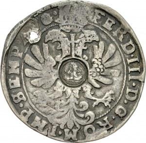 Jan II Kazimierz 1649-1668, Kontrmarka z popiersiem Jan II Kazimierza, cięta w stylu ortów bydgoskich, RRR.