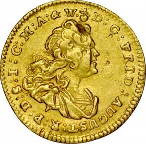August III 1733-1763, 1/4 dukata 1743, Drezno.