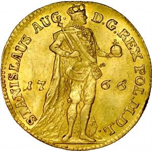 Stanisław August Poniatowski 1764-1795, Dukat koronny 1766, Warszawa, RR.