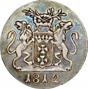 Wolne Miasto Gdańsk 1808-1812, Grosz 1812, Gdańsk, odbitka w czystym srebrze, RR.