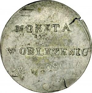 Monety z oblężenia Zamościa, 2 złote 1813, Zamość.