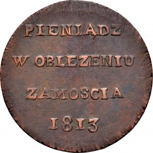 Monety z oblężenia Zamościa, 6 groszy 1813, Zamość.