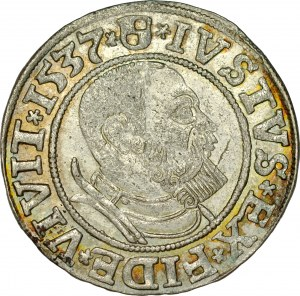 Prusy Książęce, Albrecht Hohenzollern 1525-1568, Grosz 1537, Królewiec.