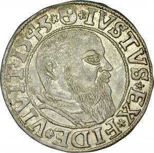 Prusy Książęce, Albrecht Hohenzollern 1525-1568, Grosz 1543, Królewiec.