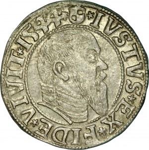 Prusy Książęce, Albrecht Hohenzollern 1525-1568, Grosz 1544, Królewiec.