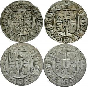 Prusy Książęce, Jerzy Wilhelm 1619-1640, Zestaw Półtorak 1624, 1625, 1626 x 2 Królewiec.