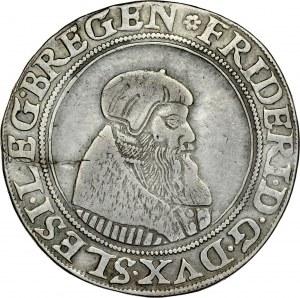 Śląsk, Księstwo Legnicko-Brzesko-Wołowskie, Fryderyk II 1505-1547, Półtalar 1545, Legnica, RR.