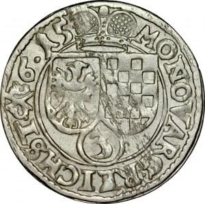 Śląsk, Księstwo Legnicko-Brzesko-Wołowskie, Jan Chrystian i Jerzy Rudolf 1603-1621, 3 krajcary 1615, Złoty Stok.