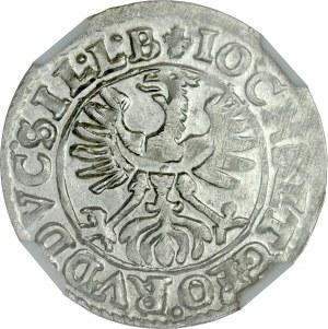 Śląsk, Księstwo Legnicko-Brzesko-Wołowskie, Jan Chrystian i Jerzy Rudolf 1603-1621, 3 krajcary 1617, Złoty Stok.