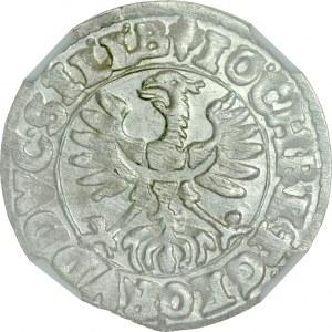 Śląsk, Księstwo Legnicko-Brzesko-Wołowskie, Jan Chrystian i Jerzy Rudolf 1603-1621, 3 krajcary 1618, Złoty Stok.