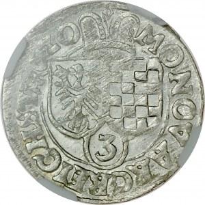 Śląsk, Księstwo Legnicko-Brzesko-Wołowskie, Jan Chrystian i Jerzy Rudolf 1603-1621, 3 krajcary 1620, Złoty Stok.