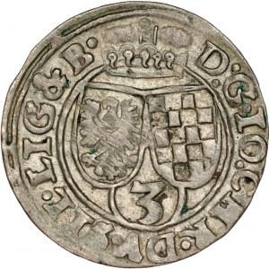 Śląsk, Księstwo Legnicko-Brzesko-Wołowskie, Jan Chrystian Brzeski 1621-1639, 3 krajcary 1621, Oława.