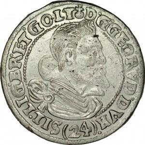 Śląsk, Księstwo Legnicko-Brzesko-Wołowskie, Jerzy Rudolf legnicki 1621-1653, 24 krajcary 1621, Legnica.