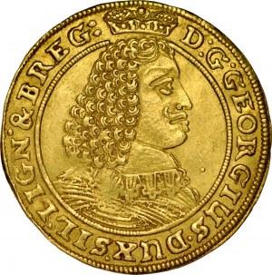 Śląsk, Księstwo Legnicko-Brzesko-Wołowskie, Jerzy III Brzeski 1654-1664, Dukat 1660, Brzeg.
