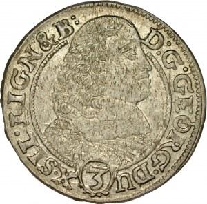 Śląsk, Księstwo Legnicko-Brzesko-Wołowskie, Jerzy III Brzeski 1654-1664, 3 krajcary 1659, Brzeg.
