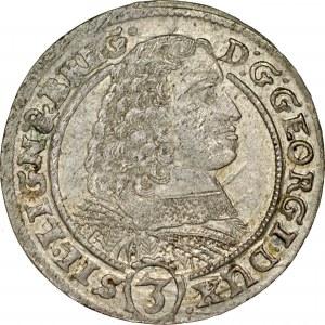 Śląsk, Księstwo Legnicko-Brzesko-Wołowskie, Jerzy III Brzeski 1654-1664, 3 krajcary 1660, Brzeg.