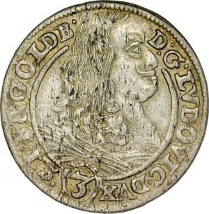 Śląsk, Księstwo Legnicko-Brzesko-Wołowskie, Ludwik 1653-1663, 3 krajcary 1661, Brzeg.