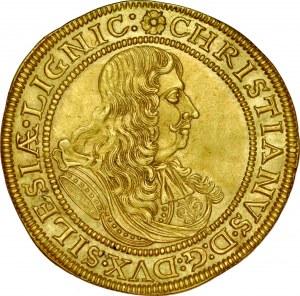 Śląsk, Księstwo Legnicko-Brzesko-Wołowskie, Chrystian 1639-1672, Dwudukat 1672, Brzeg.